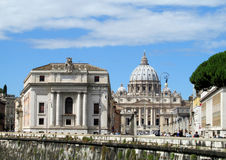 St. Peter's Cathedral and Square in Vatican Royalty Free Stock Photography