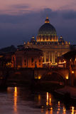 St Peter's Cathedral and Tiber, Rome, Italy Stock Photography