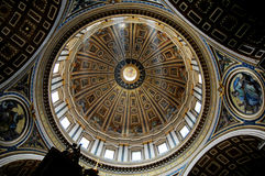 St. Peter Central Dome, Vatican, Rome stock photo
