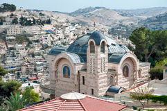 St. Peter's Church in Gallikantu. The Roman Catholic Church on Mount Zion in Jerusalem Stock Photography