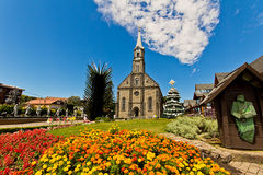 St. Peter's church. Gramado city, Rio Grande do Sul - Brazil Stock Photos