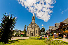 St. Peter's church. Gramado city, Rio Grande do Sul - Brazil Stock Image