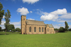 St Peter's Church and Grounds. St Peter's Church at Monkwearmouth, Sunderland, Northeast England.  One half of the twin Anglo-Saxon monastery of Wearmouth Stock Photo