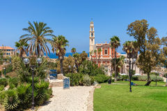 St. Peter's Church in Jaffa, Israel. Stock Image