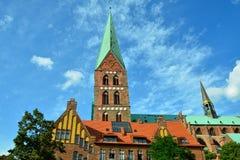 St. Peter's Church of Lübeck stock photos