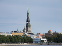 St. Peter`s Church in Old Riga Royalty Free Stock Images