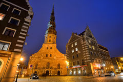 St. Peter's Church in Riga, Latvia Royalty Free Stock Photos