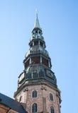 St. Peter's Church in Riga Stock Image