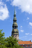 St. Peter's Church in Riga Stock Photo