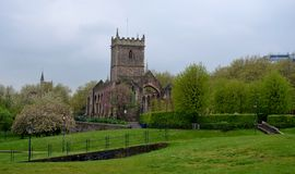 St  Peter s church. And trees Royalty Free Stock Photography