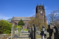 St. Peter's Church in Woolton, Liverpool Stock Photo
