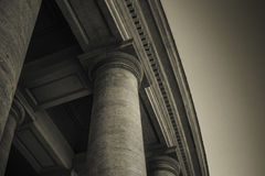 St. Peter`s colonnade Stock Photography