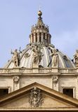 St Peter's dome. Basilica of Saint Peter Vatican Rome Royalty Free Stock Photography