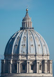 St. Peter's dome. In Rome very close Royalty Free Stock Image