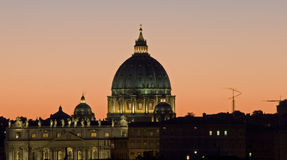St.Peter'S Dome Vatican Stock Images