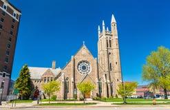 St- Peter` s Episkopale Kirche bei Niagara Falls, New York lizenzfreie stockbilder