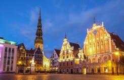 St Peter ` s kościół i dom zaskórniki łotwa Riga Fotografia Royalty Free