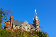 St. Peter`s Roman Catholic Church in Harpers Ferry, West Virginia, USA. Royalty Free Stock Images