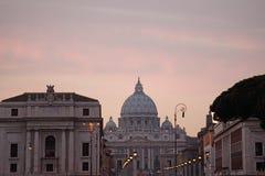 St Peter \ 's, Rome, Italië Royalty-vrije Stock Afbeeldingen