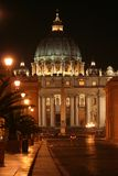 St. Peter's (Rome-Italy)Night Stock Photo