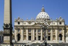 St. Peter's Squar, Vatican, Rome. St. Peter's Squar, Vatican in Rome. Basilica of St. Peter Royalty Free Stock Photos