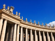 St Peter's Square. Detail of St Peter's Square, Vatican, Italy, photo was taken in February Royalty Free Stock Image