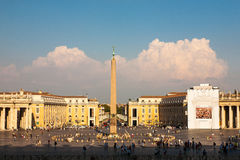 St. Peter's Square. From St. Peter's Basilica in Vatican City State  Rome, Italy Royalty Free Stock Photos