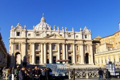 St. Peter's Square, the basilica Stock Photo