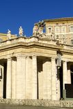 St. Peter's Square, the basilica Royalty Free Stock Photography