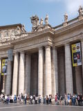 St. Peter's Square and Basillica, Vatican, Italy Royalty Free Stock Photo