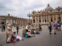 St. Peter's Square and Basillica, Vatican, Italy Stock Photos