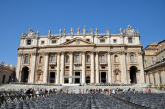 St Peter's Square & Church, Rome, Italy Royalty Free Stock Images