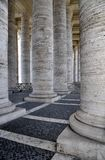 St Peter's Square Colonnade, Rome Italy Royalty Free Stock Images