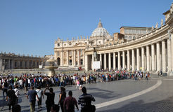 St Peter's Square & Colonnade,Rome, Italy Stock Photography