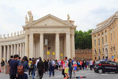 St Peter`s square colonnade Vatican Rome Italy Royalty Free Stock Image