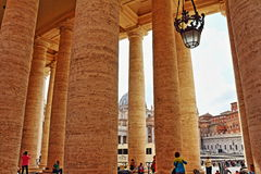 St Peter`s square colonnade Vatican Rome Italy Stock Photography