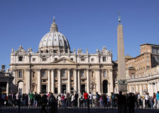 St. Peter's Square Crowd Royalty Free Stock Photo