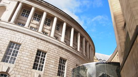 St Peter's Square, Manchester, England. Central Library in City Centre of Manchester, UK Royalty Free Stock Photography