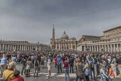 St. Peter's Square on Palm Sunday Royalty Free Stock Photos