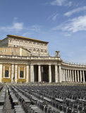 St Peter's Square papal apartments View Royalty Free Stock Photo