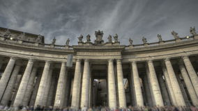 St. Peter's Square Rome. HDR Timelapse of St. Peter's Square at the Vatican in Rome with people in line waiting/stop and go stock video