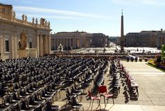 St. Peter`s square Rome Royalty Free Stock Image