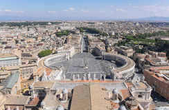 St. Peter`s Square in Rome Italy  2 Stock Photo