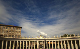 St. Peter's square in Rome Royalty Free Stock Image
