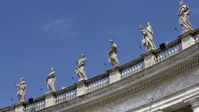 St Peter's Square Saints, Rome Italy Stock Photos