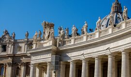 St. Peter's Square sculptures, Vatican City Stock Photography