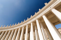 St. Peter s Square, St. Peter s Basilica, Vatican City;. St. Peter's Square, Vatican, Rome, Italy Royalty Free Stock Image