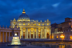 St. Peter`s Square at Sunset. Stock Photography