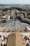 St. Peter`s Square. Top view stock photos