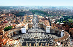 St. Peter's Square, Vatican Royalty Free Stock Photos